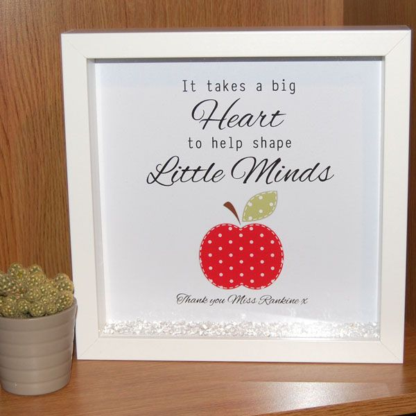 Framed Teacher Print - It Takes a Big Heart to Shape Little Minds