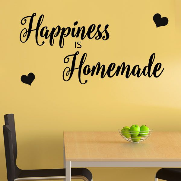 Happiness Is Homemade Home Decor Print Kitchen Quote: Happiness Is Homemade Wall Sticker Decals