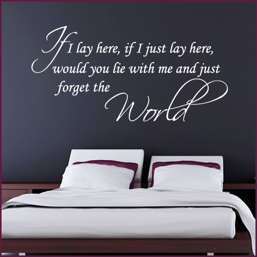 if i lay here love wall sticker decals