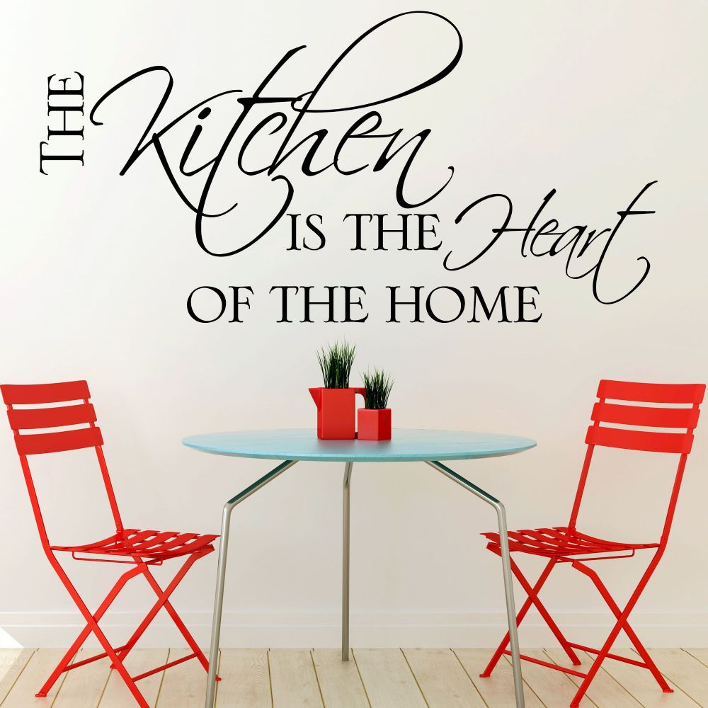 Kitchen wall sticker the kitchen is the heart of the home for Wallpaper home is where the heart is