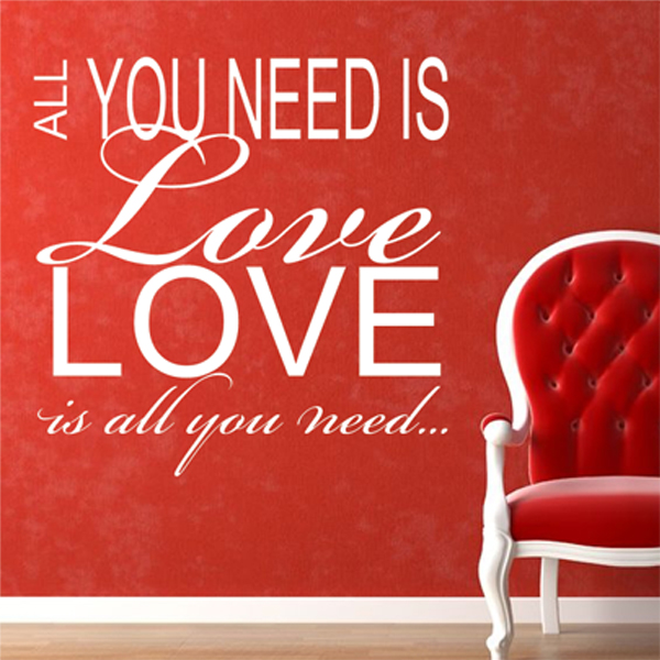 love is all you need wall sticker decals