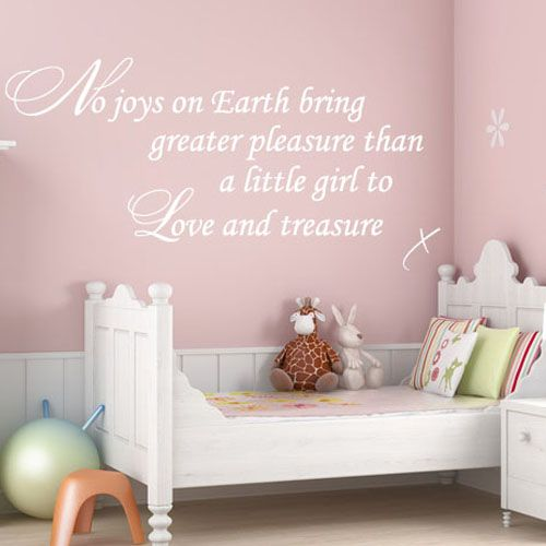 No Joys On Earth Baby Girl Nursery Art ~ Wall Sticker / Decals Part 38
