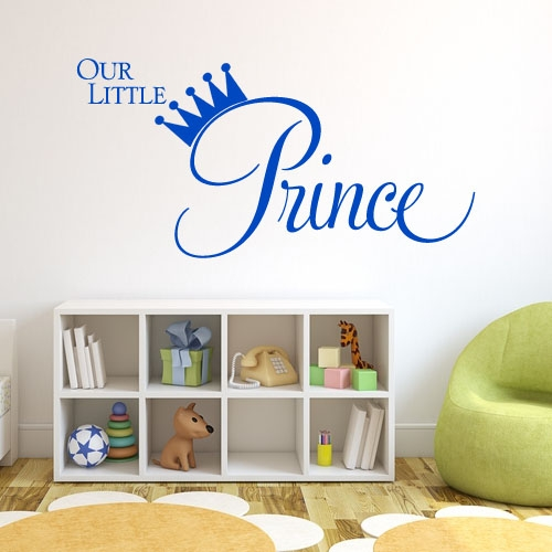 Our Little Prince Wall sticker decals