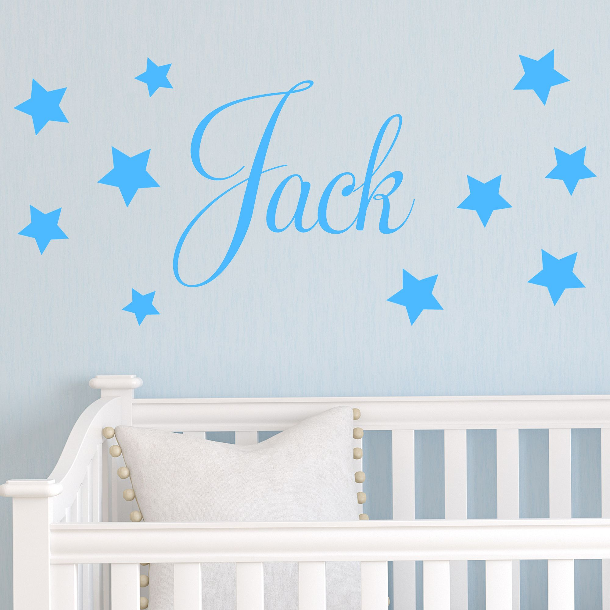 baby wall stickers personalised children s star name wall sticker decal