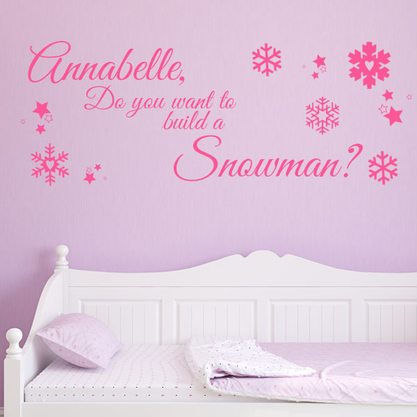Personalised Do You Want To Build A Snowman Wall Sticker Decals - How do u put up a wall sticker