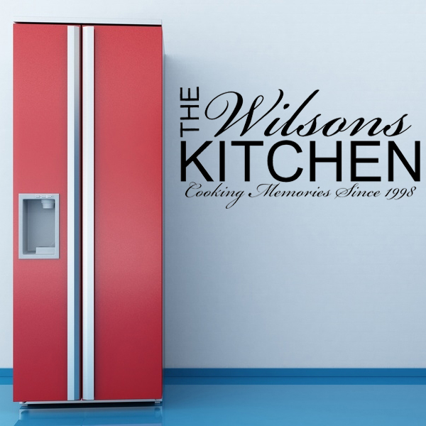 personalised kitchen wall sticker decals