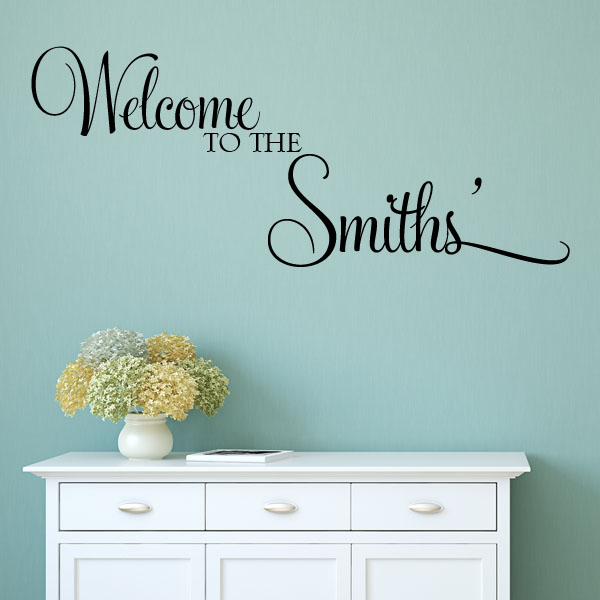 Personalised welcome to the wall sticker decals