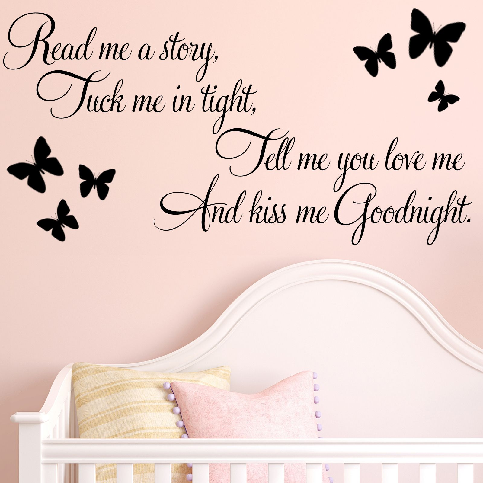 read me a story baby nursery childrens wall sticker decals. Black Bedroom Furniture Sets. Home Design Ideas