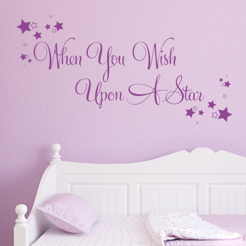 when you wish upon a star wall sticker decals