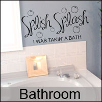 bathroom wall stickers decals