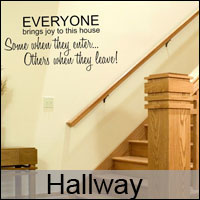 hallway hall wall stickers decals custom