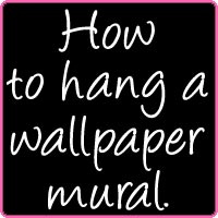 how to hang a wallpaper mural