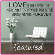 love is like a violin wall decal