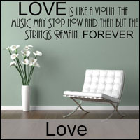 love wall stickers decals custom