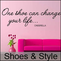 shoe style wall stickers decals