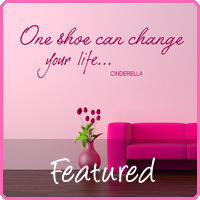 shoe wall stickers decals
