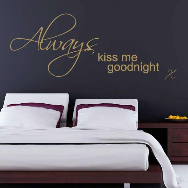 always kiss me goodnight wall sticker decals