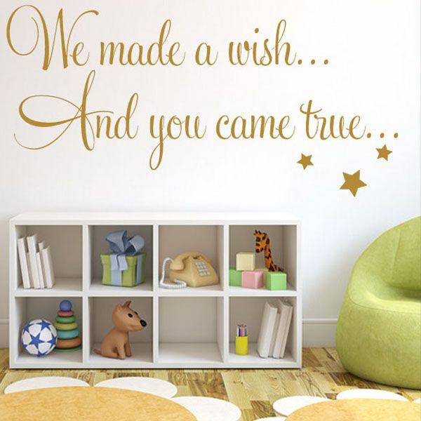 baby wall sticker we made a wish & you came true wall sticker decals