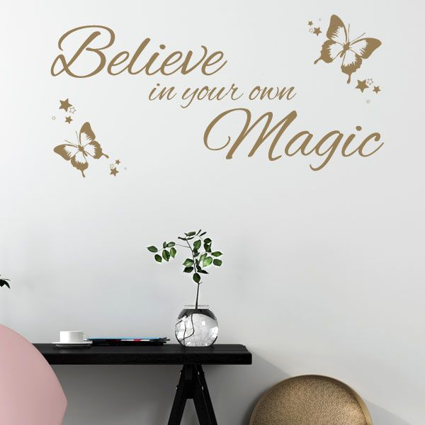 believe in your own magic wall sticker quote decals