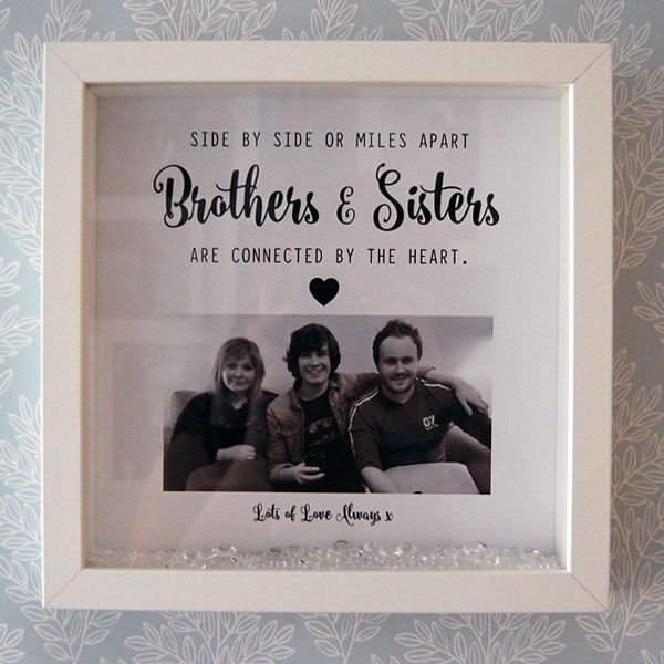 Brothers And Sisters Are Connected By The Heart Framed Print
