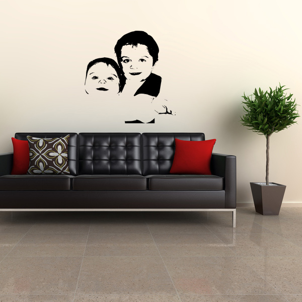 custom photo wall decal - use your own photo