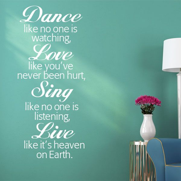 Us Stock Live Quote: Dance Like No-one S Watching Wall Sticker Decals