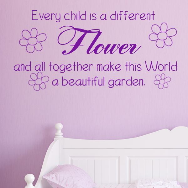 Every Child Is A Flower Wall Sticker Decals