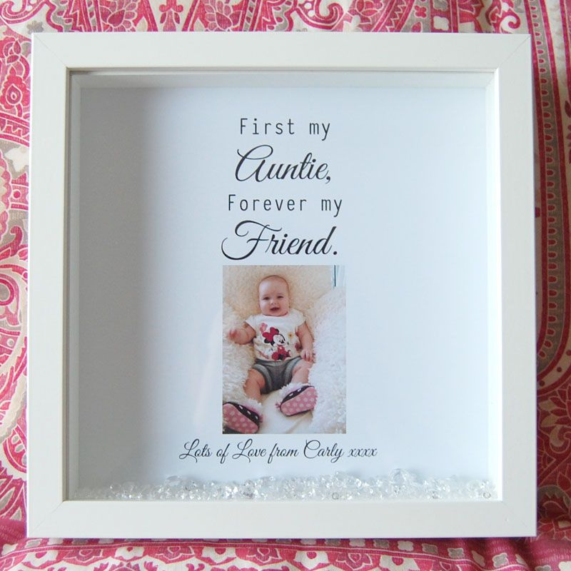 First My Auntie Forever My Friend Framed Print