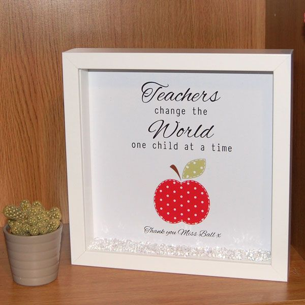 Framed Teacher Print - Teachers Change the World One Child at a Time