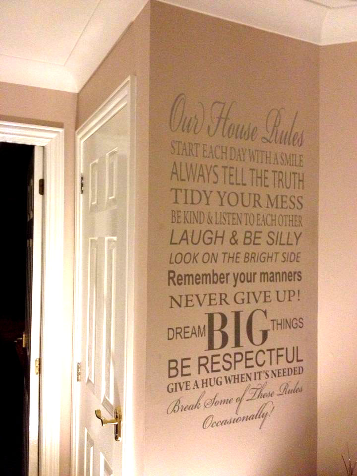 Grandparents house rules wall sticker wall sticker decals personalised