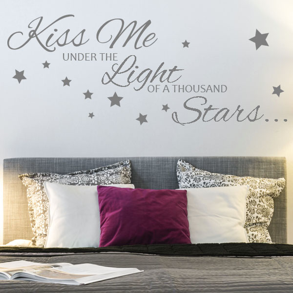 kiss me under the light of a thousand stars wall sticker decals