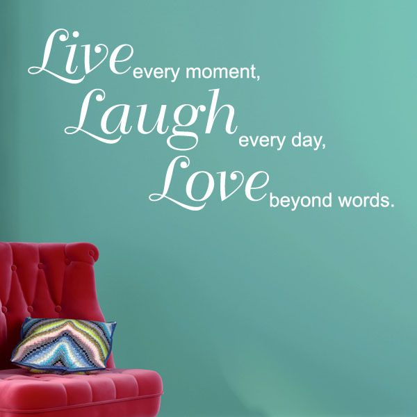 Us Stock Live Quote: Live Laugh Love Beyond Words Wall Sticker Decals