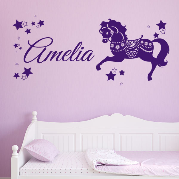 personalised children s horse pony name wall sticker decal