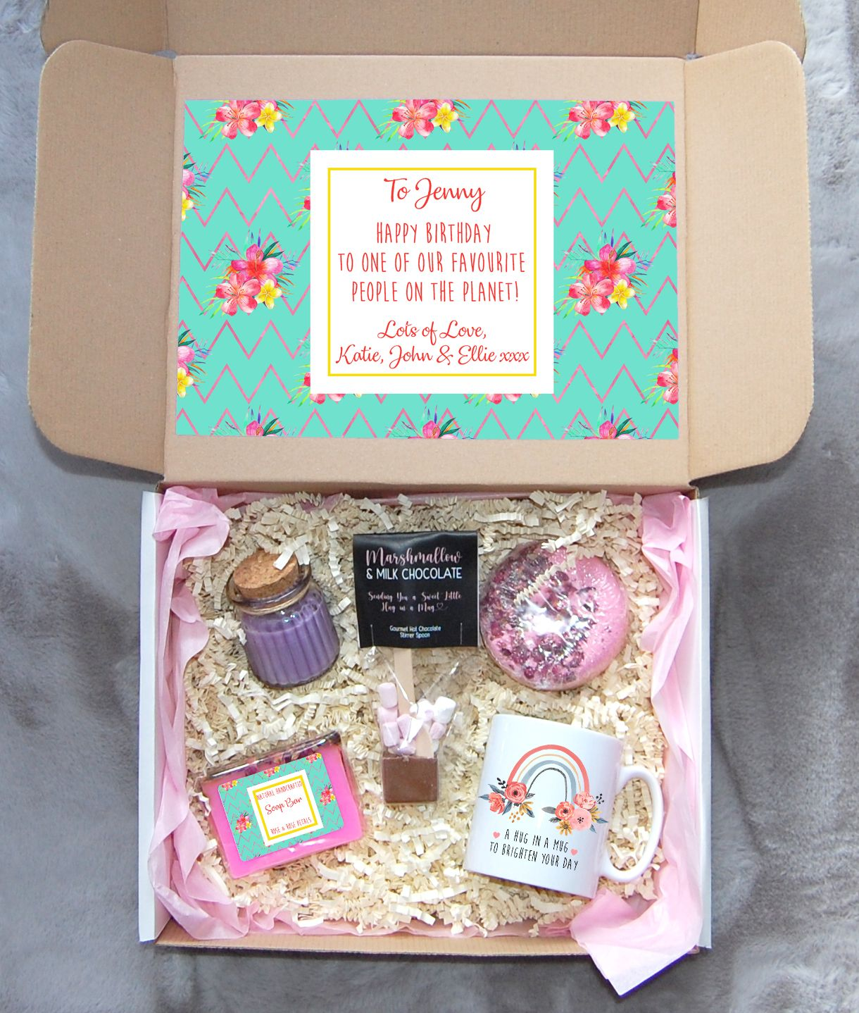 Personalised Gift Box Birthday Gift Set Friend Birthday Gift Box Gifts For Her Self Care Box A