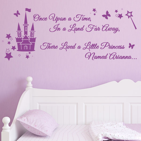 Personalised Once Upon A Time In A Land Far Away There