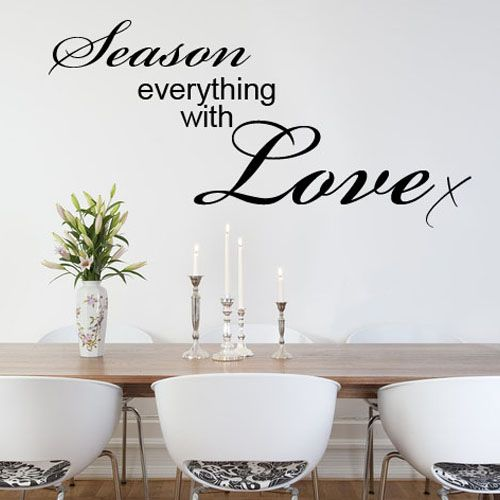 sc 1 st  Wall Stickers by the Wallpaper Mural Company Scotland Ltd & SEASON EVERYTHING WITH LOVE KITCHEN WORD ART Wall sticker decals