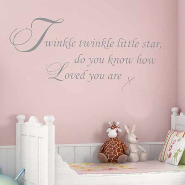 Twinkle Twinkle Little Star ~ Wall Sticker / Decals